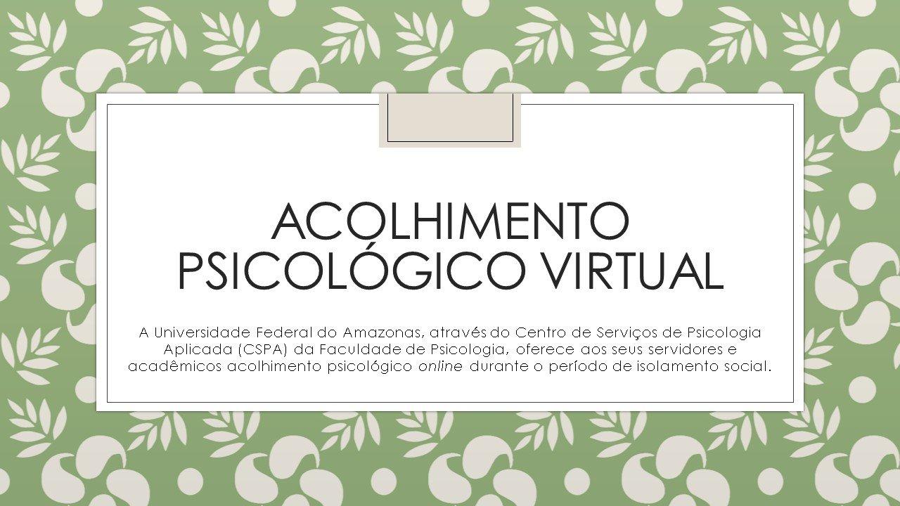ACOLHIMENTO PSICOLÓGICO VIRTUAL